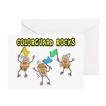Colorguard Rocks Greeting Card