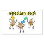 Colorguard Rocks Rectangle Sticker
