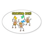 Colorguard Rocks Oval Sticker
