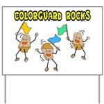 Colorguard Rocks Yard Sign