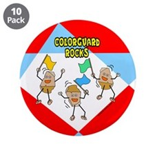 "Colorguard Rocks 3.5"" Button (10 pack)"