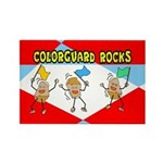 Colorguard Rocks Rectangle Magnet