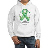 Kidney Cancer Butterfly Ribbon Hoodie Sweatshirt