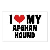I Love my Afghan Hound Postcards (Package of 8)