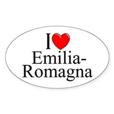 """I Love (Heart) Emilia-Romagna"" Oval Decal"