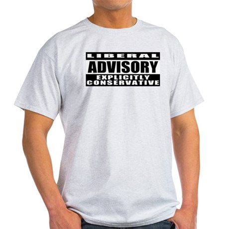 Explicitly Conservative Ash Grey T-Shirt