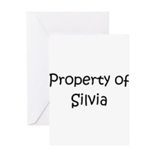 Cute Silvia Greeting Card