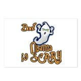 Obama is Scary, Halloween Postcards (Package of 8)