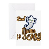 Obama is Scary, Halloween Greeting Cards (Pk of 20