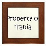 Funny Tania Framed Tile
