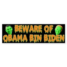 Beware of Obama Bin Biden Bumper Sticker (50 pk)