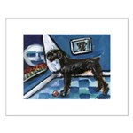 Giant Blk Schnauzer cs moon Small Poster