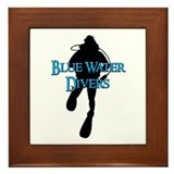 Blue Water Divers Framed Tile