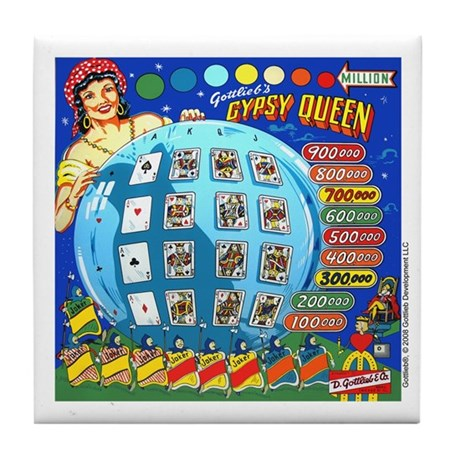 "Gottlieb® ""Gypsy Queen"" Tile Coaster"
