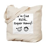 Super Nanny of b/g Twins Tote Bag
