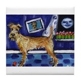 IRISH TERRIER unique fun whim Tile Coaster