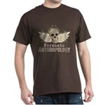 Forensic Anthropology Dark T-Shirt - A paint spattered grunge skull with wings and floral design in khaki, olive and brown hues. Forensic anthropology apparel and gifts for a forensic anthropologist, scientist, student, teacher or grad. - Availble Sizes:Small,Medium,Large,X-Large,X-Large Tall (+$3.00),2X-Large (+$3.00),2X-Large Tall (+$3.00),3X-Large (+$3.00),3X-Large Tall (+$3.00) - Availble Colors: Black,Cardinal,Navy,Military Green,Red,Royal,Brown,Charcoal,Kelly Green,Green Camo