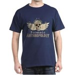Forensic Anthropologist Dark T-Shirt - A paint spattered grunge skull with wings and floral design in khaki, olive and brown hues. Forensic anthropology apparel and gifts for a forensic anthropologist, scientist, student, teacher or grad. - Availble Sizes:Small,Medium,Large,X-Large,X-Large Tall (+$3.00),2X-Large (+$3.00),2X-Large Tall (+$3.00),3X-Large (+$3.00),3X-Large Tall (+$3.00) - Availble Colors: Black,Cardinal,Navy,Military Green,Red,Royal,Brown,Charcoal,Kelly Green,Green Camo