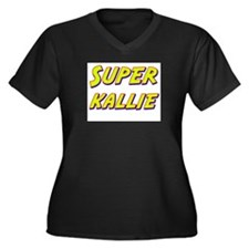 Super kallie Women's Plus Size V-Neck Dark T-Shirt