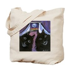 schipperke two moon Tote Bag