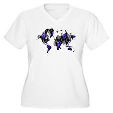 Argyle World Map T-Shirt