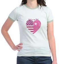 Joined at the Heart (pink) T