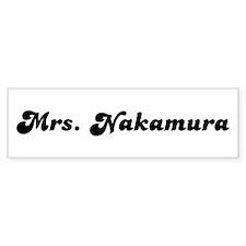 Mrs. Nakamura Bumper Sticker (10 pk)