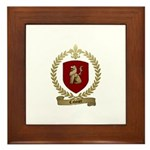 CAHOUET Family Crest Framed Tile