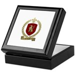 CAHOUET Family Crest Keepsake Box
