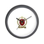 CAHOUET Family Crest Wall Clock