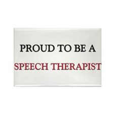 Proud to be a Speech Therapist Rectangle Magnet (1
