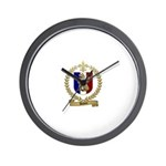 DUHON Family Crest Wall Clock