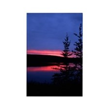 Great Slave Lake Sunset Rectangle Magnet (100 pack