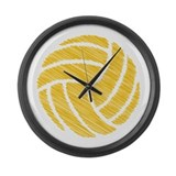 scribble ball Large Wall Clock