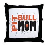 Pit Bull Mom Throw Pillow