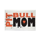 Pit Bull Mom Rectangle Magnet