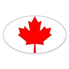 Maple Leaf Oval Decal