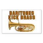 Baritones Kick Brass Rectangle Sticker 10 pk)