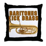 Baritones Kick Brass Throw Pillow