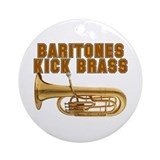 Baritones Kick Brass Ornament (Round)