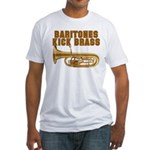 Baritones Kick Brass Fitted T-Shirt