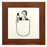 OBAMA: I've got change in my pocket Framed Tile