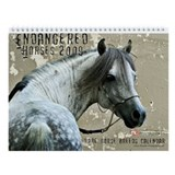 2009 Endangered Horses Wall Calendar