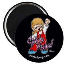 "Girls Rule! 2.25"" Magnet (100 pack)"