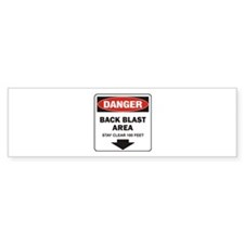 Danger Back Blast Bumper Sticker (10 pk)