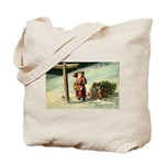 Santa Finding His Way Tote Bag