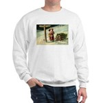 Santa Finding His Way Sweatshirt