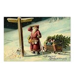 Santa Finding His Way Postcards (Package of 8)