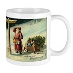 Santa Finding His Way Mug