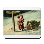 Santa Finding His Way Mousepad